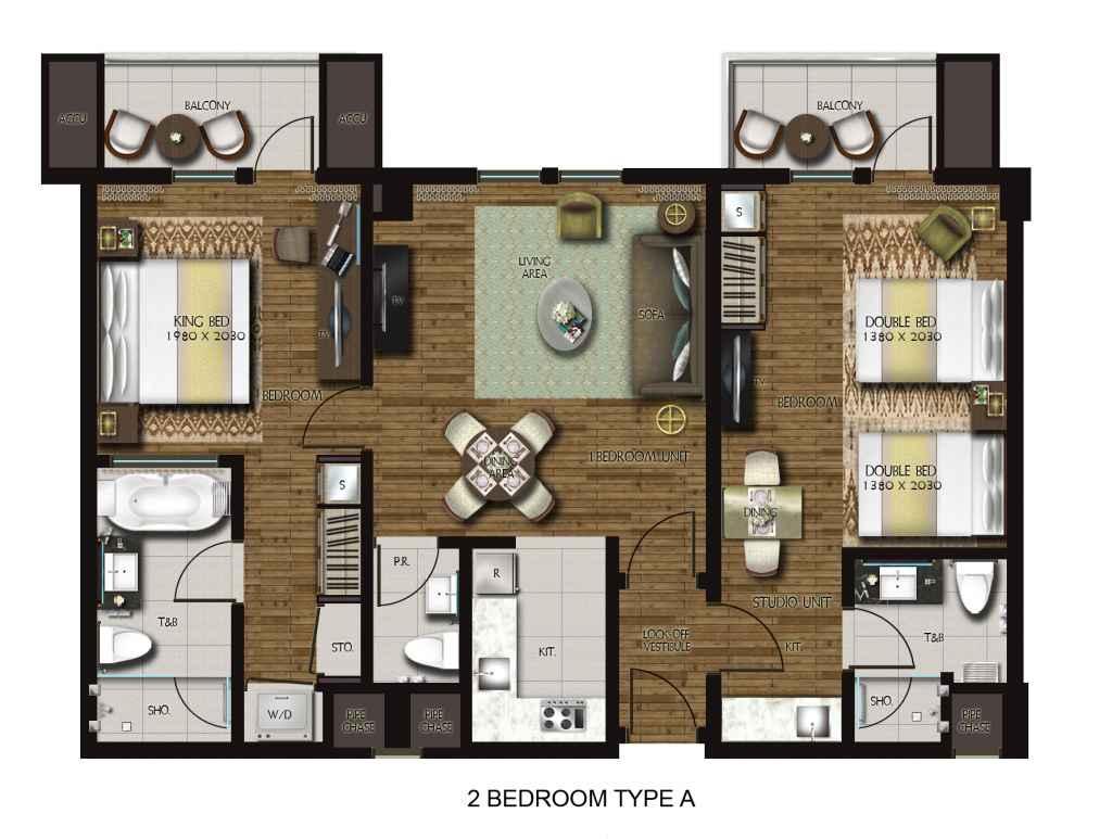 Dusit Thani Residence Davao 2-Bedroom unit