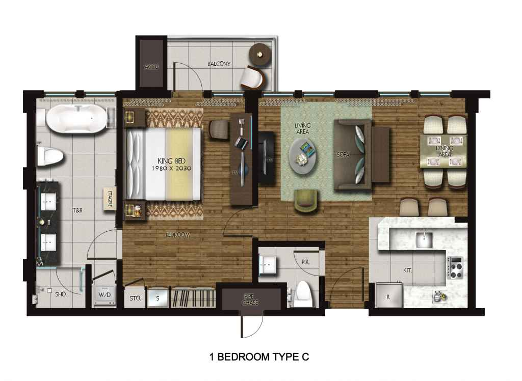 Dusit Thani Residence Davao 1-Bedroom unit
