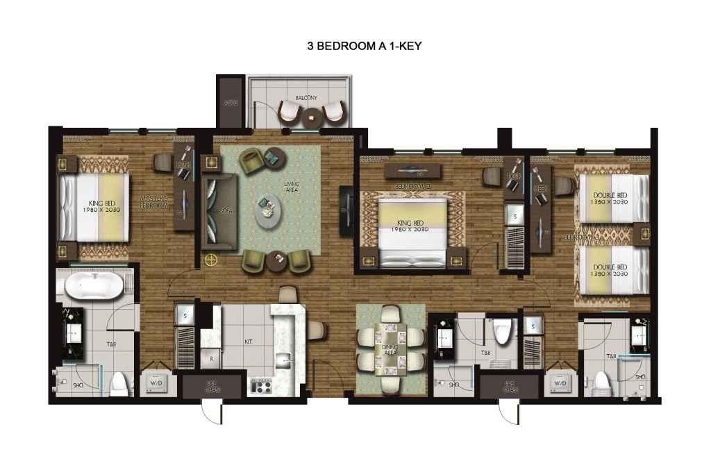 Dusit Thani Residence Davao 3-Bedroom unit